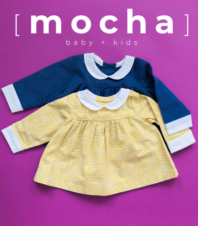 Picture of (3M-24M) Greta Baby Blouse and Dress PDF Pattern