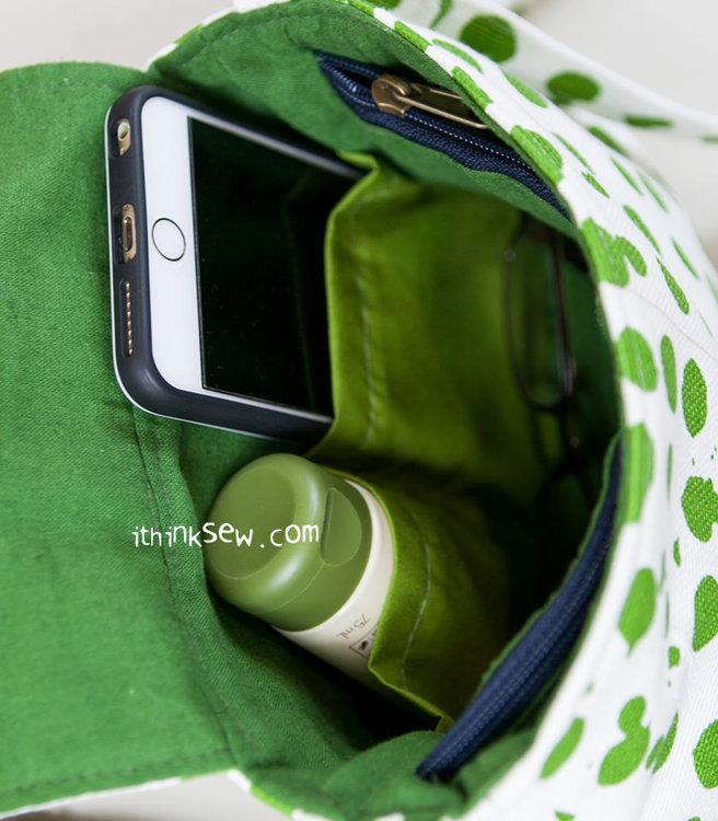 Picture of Kellie Zippered divider pocket Bag (2 Szie) PDF Pattern