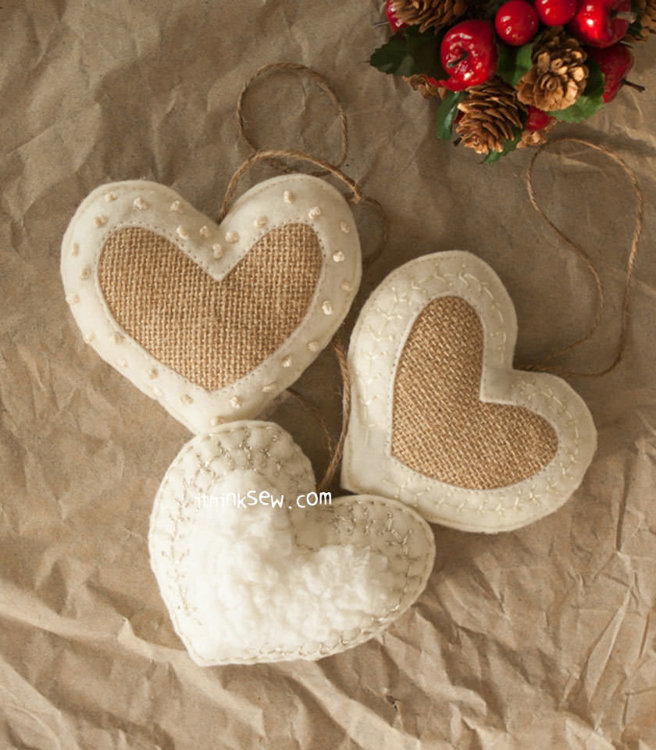 Picture of 2 Style Heart Ornaments PDF Pattern