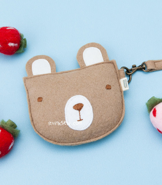 Picture of Teddy Bear Coin Purse PDF Pattern