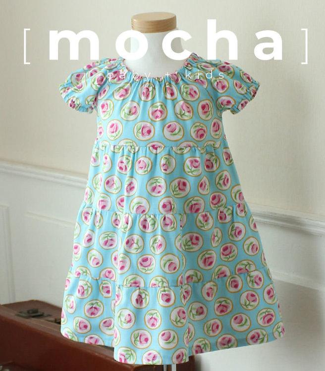 Picture of (3Y - 8Y) Naomi Raglan Dress for Kids PDF Pattern