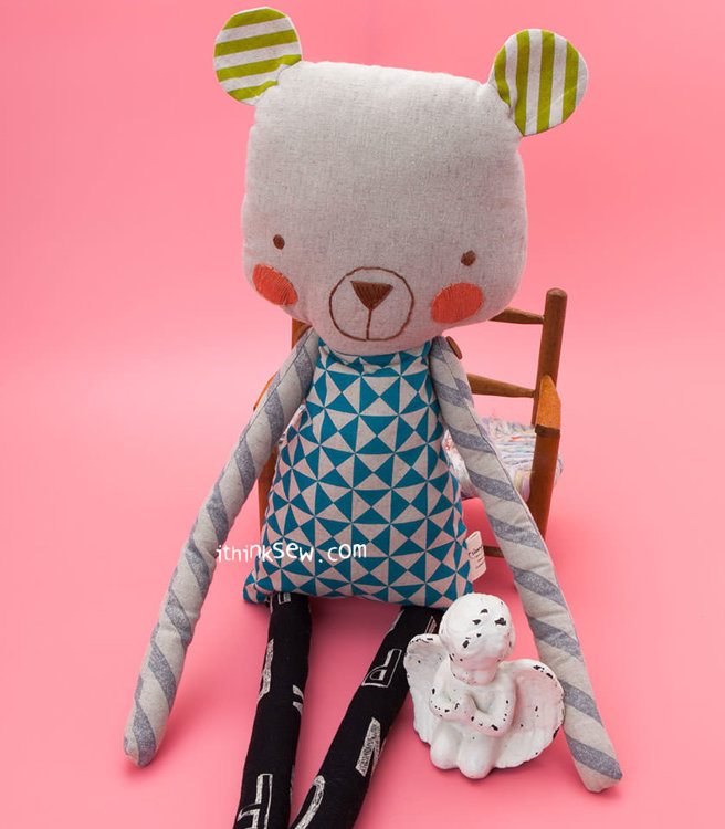 Picture of Cuddly Bear and Fish Dolls PDF Pattern