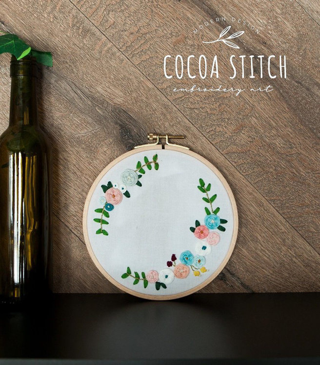 "Picture of Flower 6"" Embroidery PDF Pattern"