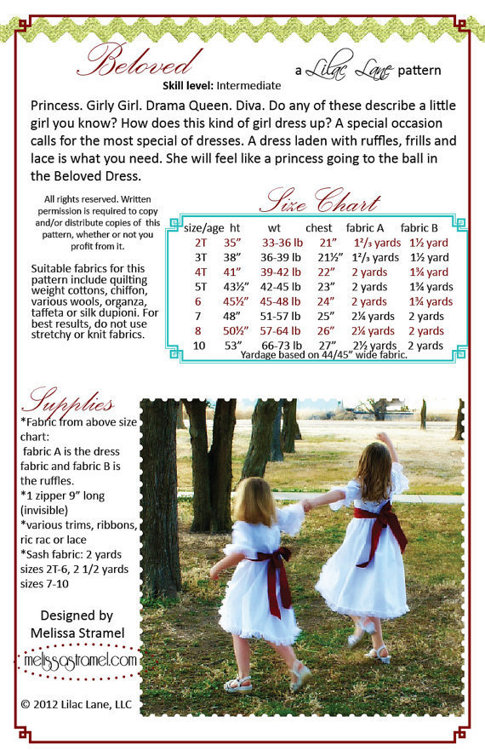 Picture of Beloved Dress PDF Pattern