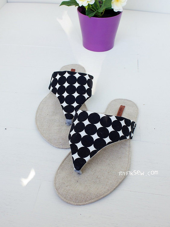Picture of Allyson Flip Flops PDF Pattern