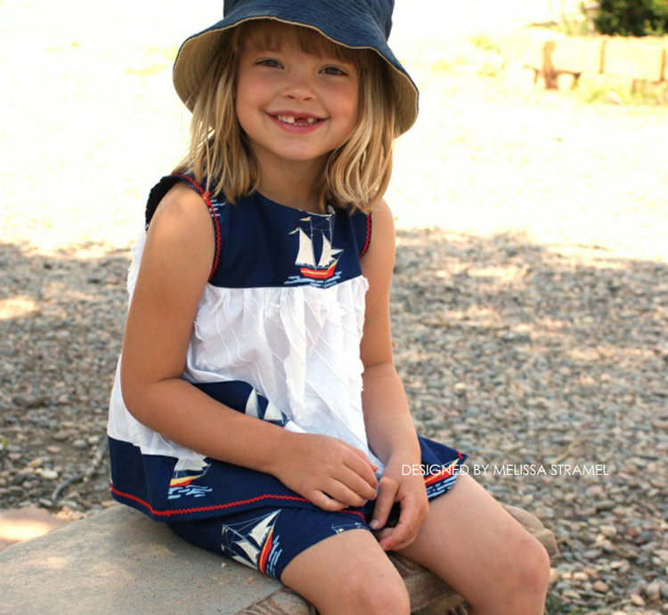 Picture of Summer Top and Shorts Outfit PDF Pattern