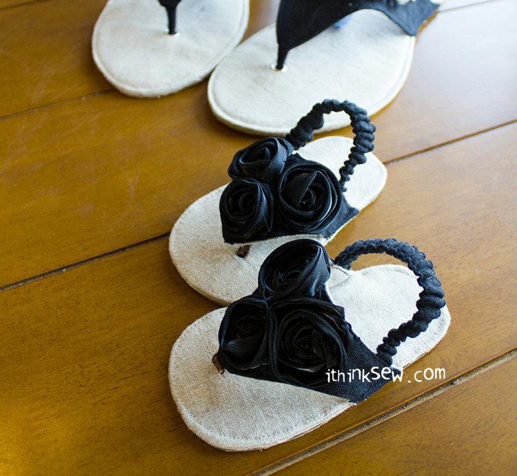 Picture of Allyson Baby Flip Flops PDF Pattern