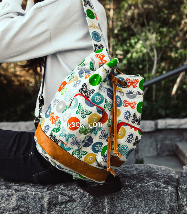 Picture of Loren Bucket Backpack PDF Pattern
