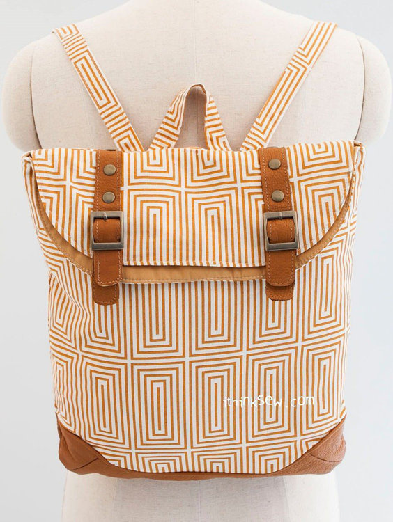 Picture of Brigitta Foldover Backpack PDF Pattern