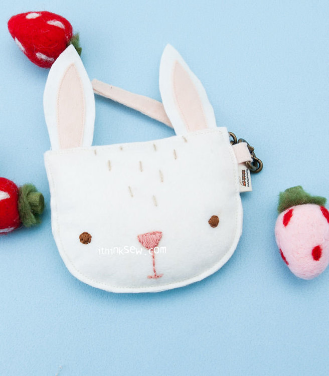 Picture of Rabbit Coin Purse PDF Pattern