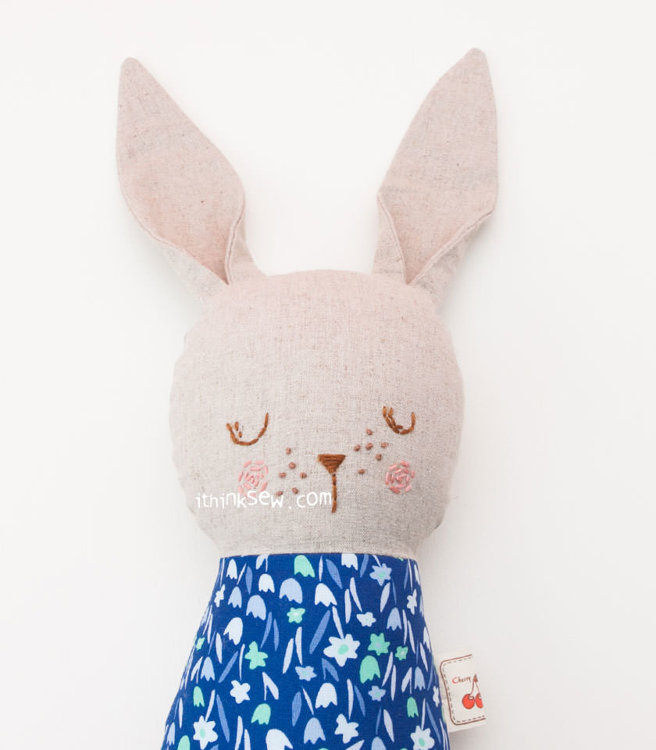 Picture of Sleeping Bunny & Girl Doll Combo PDF Pattern - 20% Off!