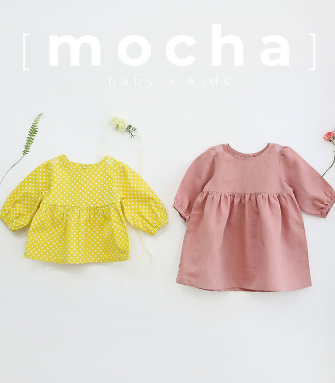 Picture of (3Y-10Y) Winifred Blouse and Dress for Kids PDF Pattern