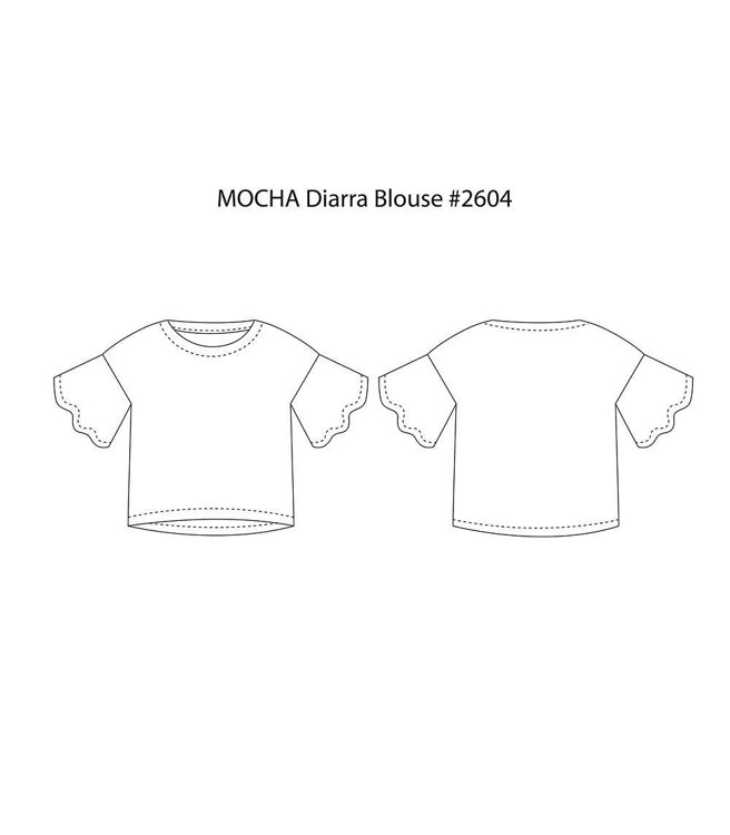 """Picture of MOCHA Diarra Blouse and Dress PDF Pattern - 4 Kinds of Paper(A4, US Letter, A0, 36""""x48"""")"""