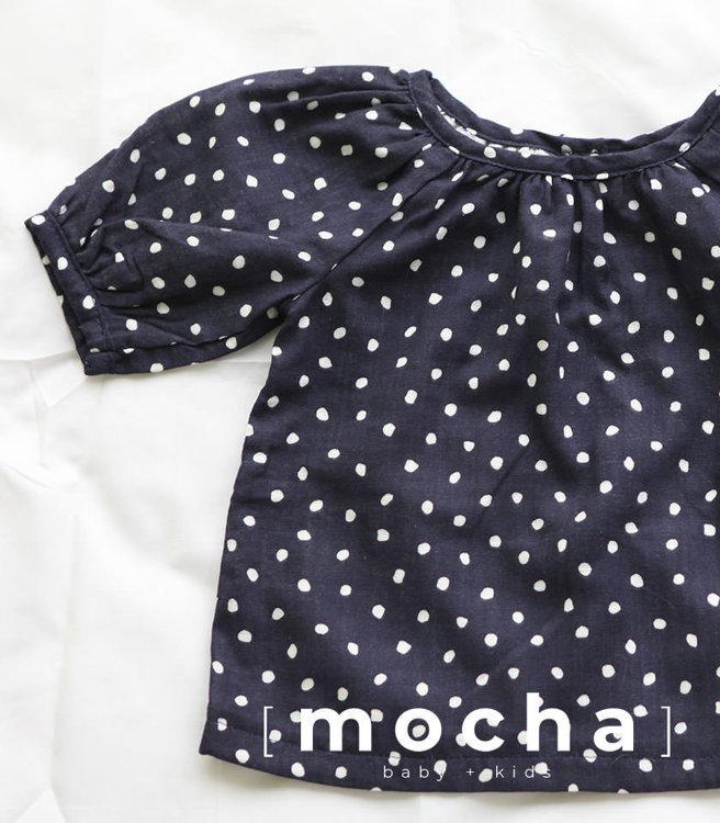 Picture of (6M-24M) Mabel Raglan Blouse for Baby PDF Pattern