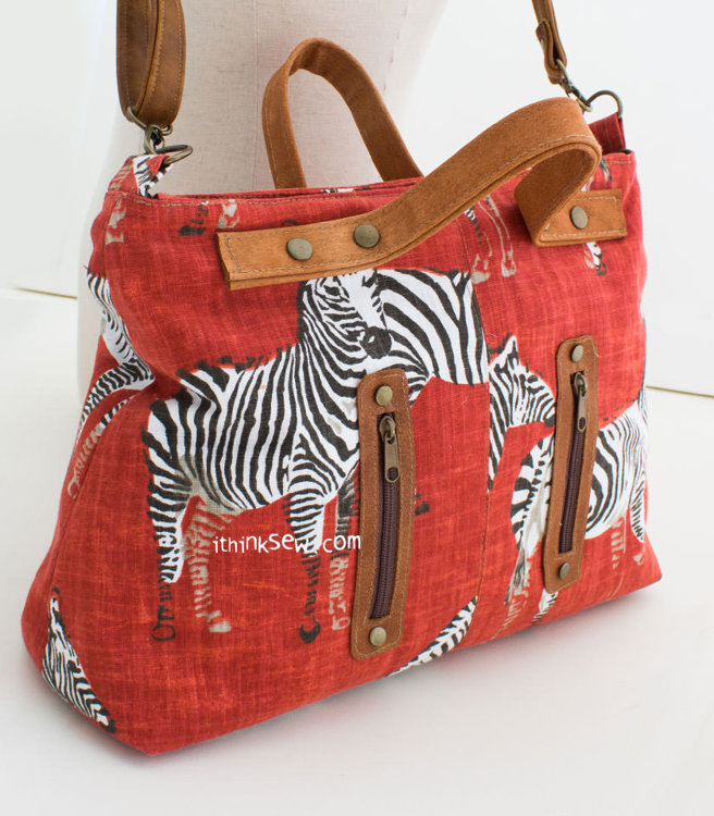 Picture of Christina Cross Tote Bag PDF Pattern