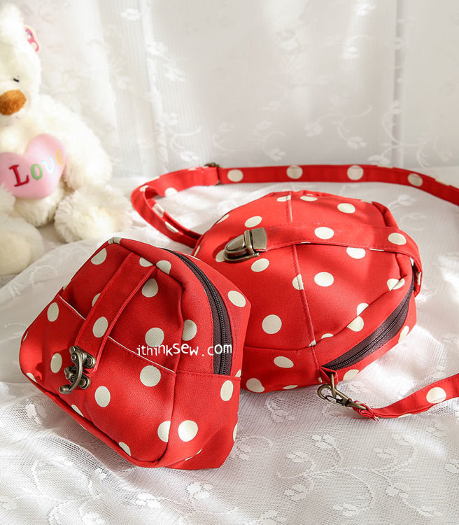 Picture of Johnnie Cross Bag & Erma Pouch PDF Pattern Combo - 10% Off!