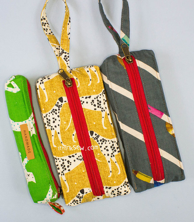 Picture of Evita Phone Wristlet Pouches and Pencilcase PDF Pattern