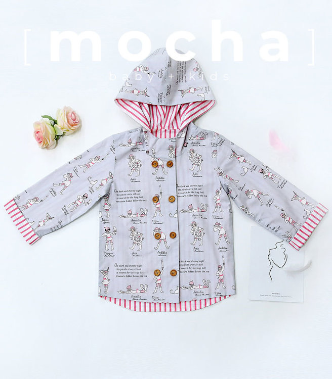 Picture of (1Y-5Y) Double Button Hood Jacket  PDF Pattern