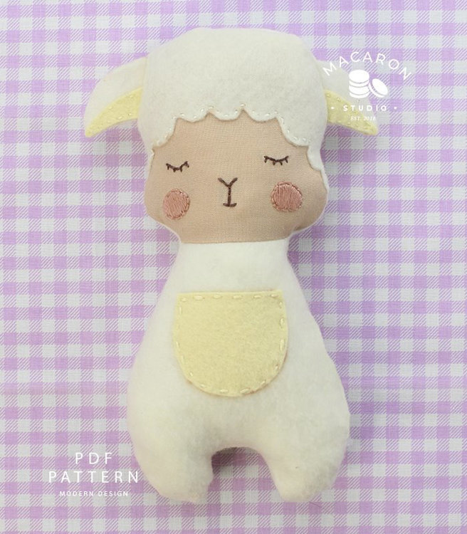 Picture of Sheep Doll, Molly PDF Pattern