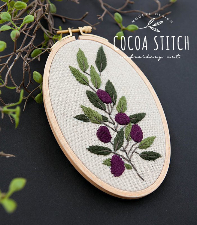 """Picture of 6"""", 8"""" Olive Branch Set  PDF Pattern"""