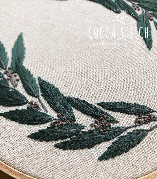 """Picture of 9"""" Green Foliage PDF Pattern"""