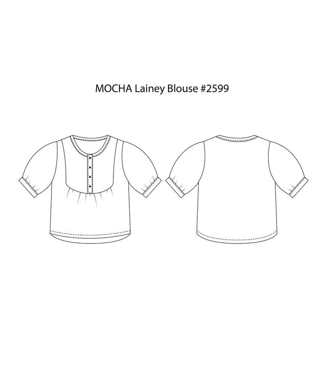 Picture of 10 MOCHA Lainey Blouse Paper Pattern (#3141_3111) - 25% Off!