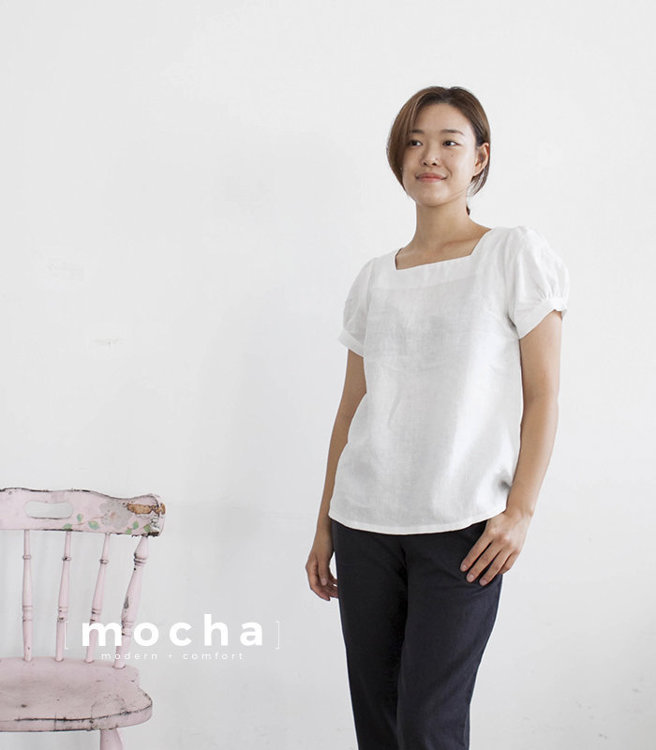Picture of Oliwia Square Neck Blouse Paper Pattern