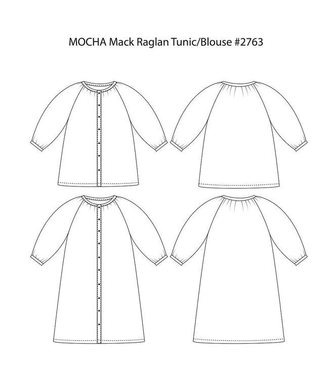 Picture of 10 MOCHA Mack Raglan Tunic/Blouse Paper Pattern (#3182_3130) - 25% Off!