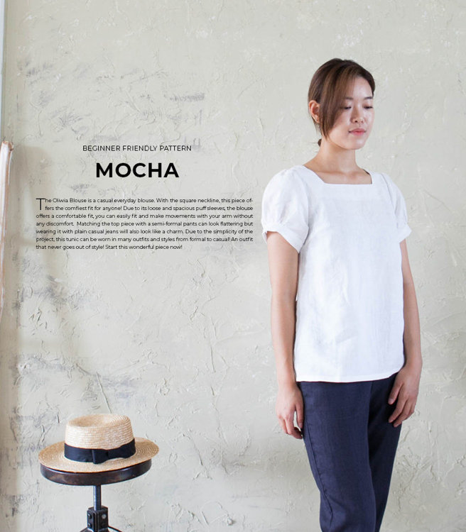 Picture of 10 Oliwia Square Neck Blouse Paper Pattern