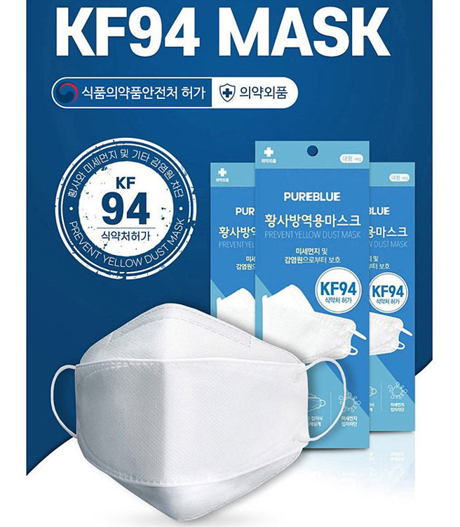 Picture of 100 KF-94 Safety Korean Face Masks