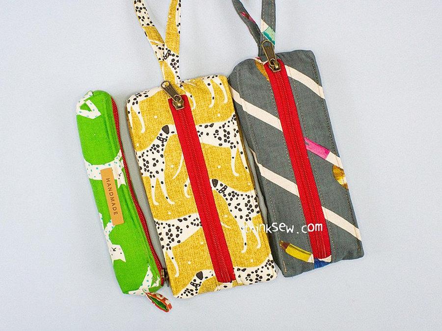 Evita Phone Wristlet Pouches and Pencil Case FREE PDF Pattern