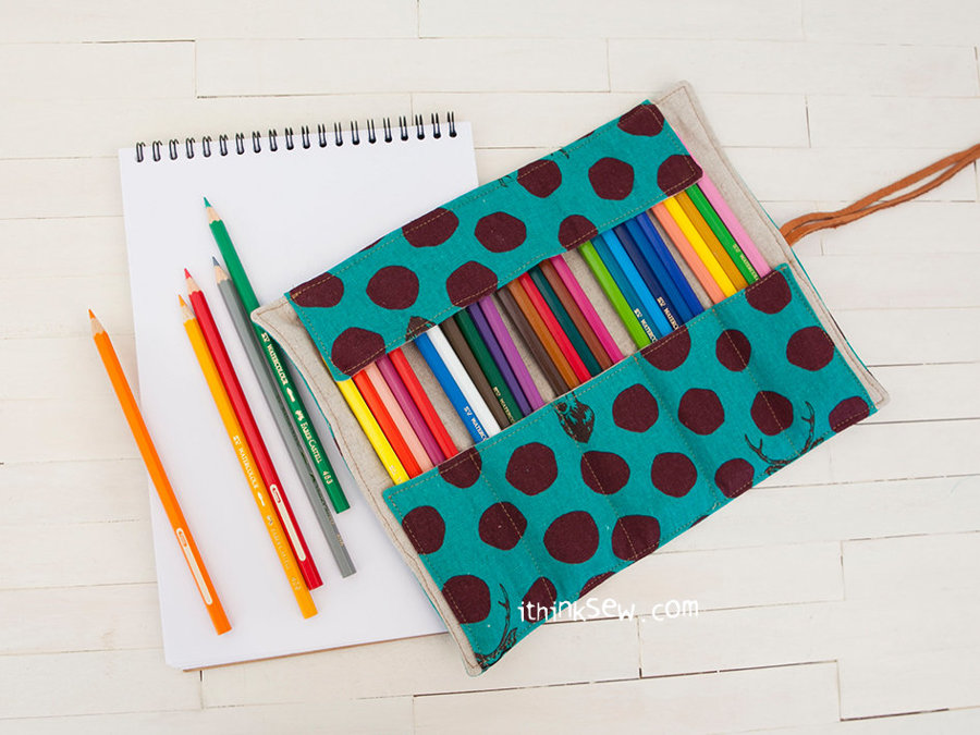 Angela Roll-up Pencil Case FREE PDF Pattern