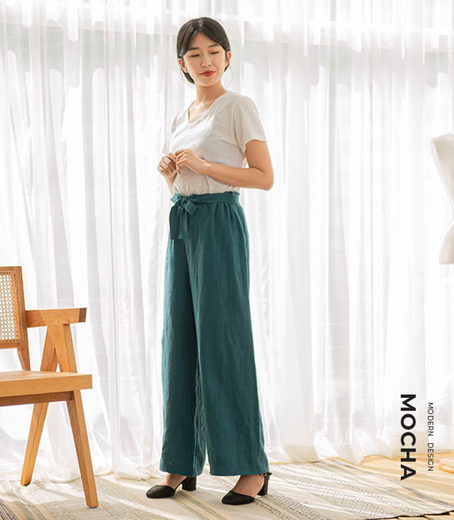 Picture of MOCHA Willa Ribbon Belt Wide Pants PDF Pattern