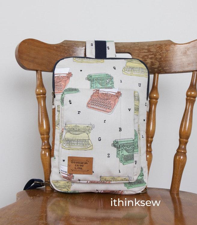 Picture of Kenzie Cross Body Sling Bag (MacBook Size) PDF Pattern