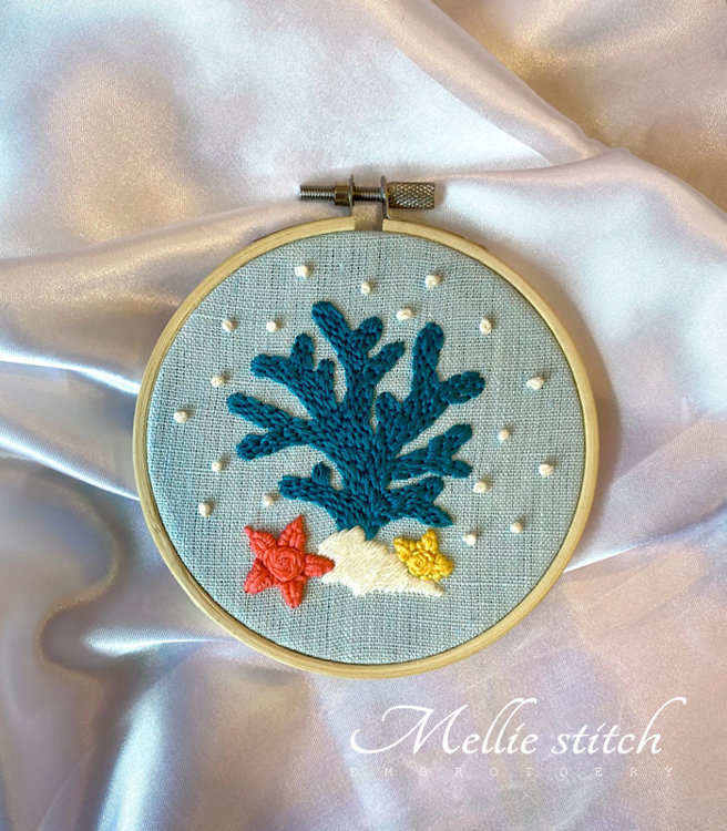 Baby Coral Reef Embroidery PDF Pattern
