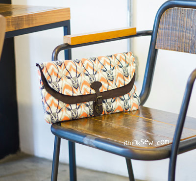 image for Eden Fold Over Clutch PDF Pattern (#909) - Subscribers Only