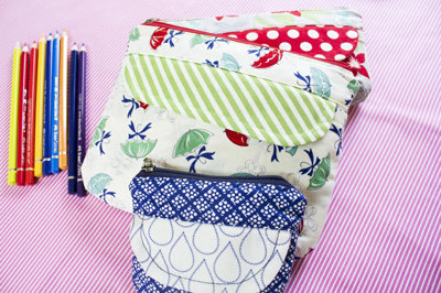 image for Coin, Pencil Cosmetic Pouches PDF Pattern (#573) - Subscribers Only