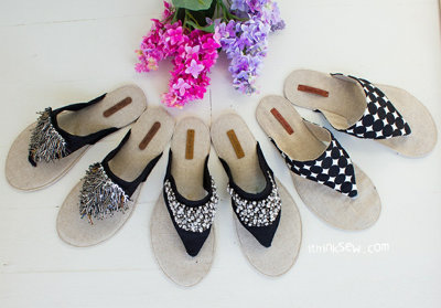 image for Allyson Flip Flops PDF Pattern (#799) - Subscribers Only