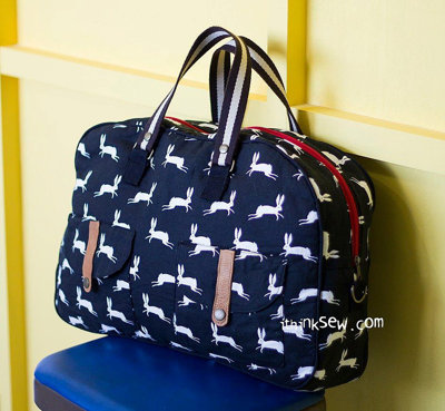 image for Aurora Big Boston Bag PDF Pattern (#835) - Subscribers Only