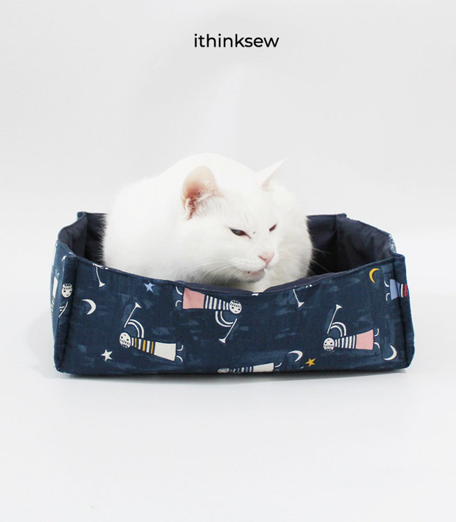 Picture of Free Cat/Dog Bed PDF Patterns & Video Tutorial (2 Size )
