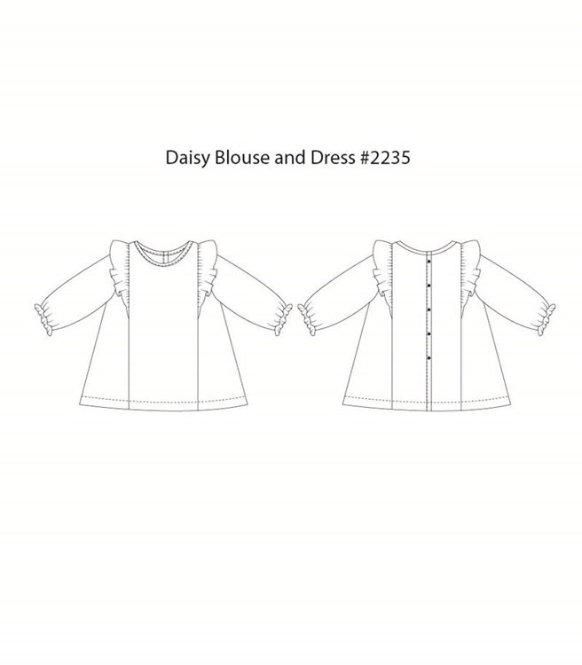Picture of (3Y-10Y) Daisy Blouse and Dress PDF Pattern