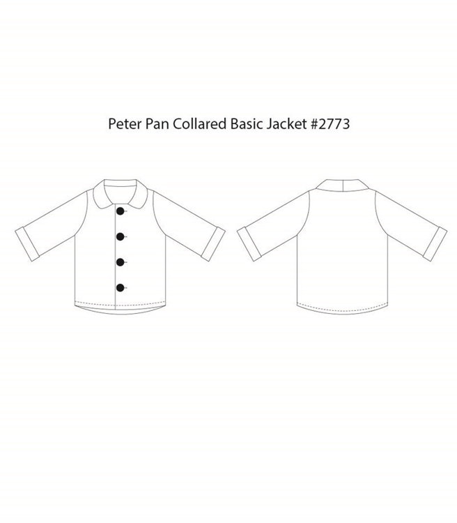 Picture of (1Y-5Y) Peter Pan Collared Basic Jacket  PDF Pattern