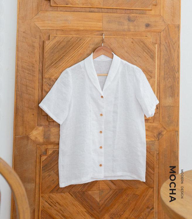 MOCHA Portia Shawl Collar Blouse