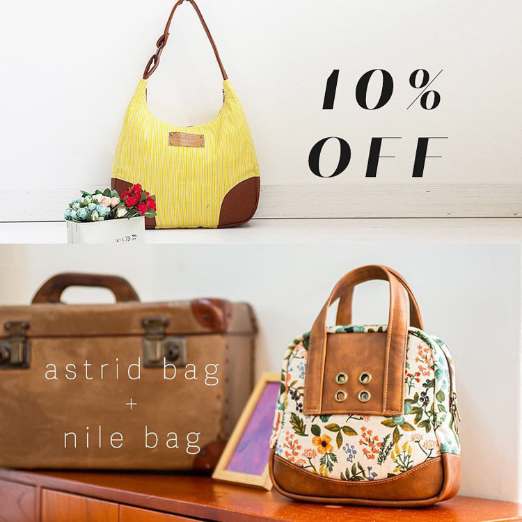 Picture of Nile Bag  & Astrid Bag PDF Pattern Combo - 10% Off