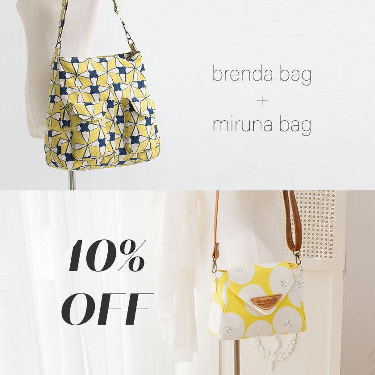 Picture of Miruna Bag & Brenda Bag PDF Pattern Combo - 10% Off!