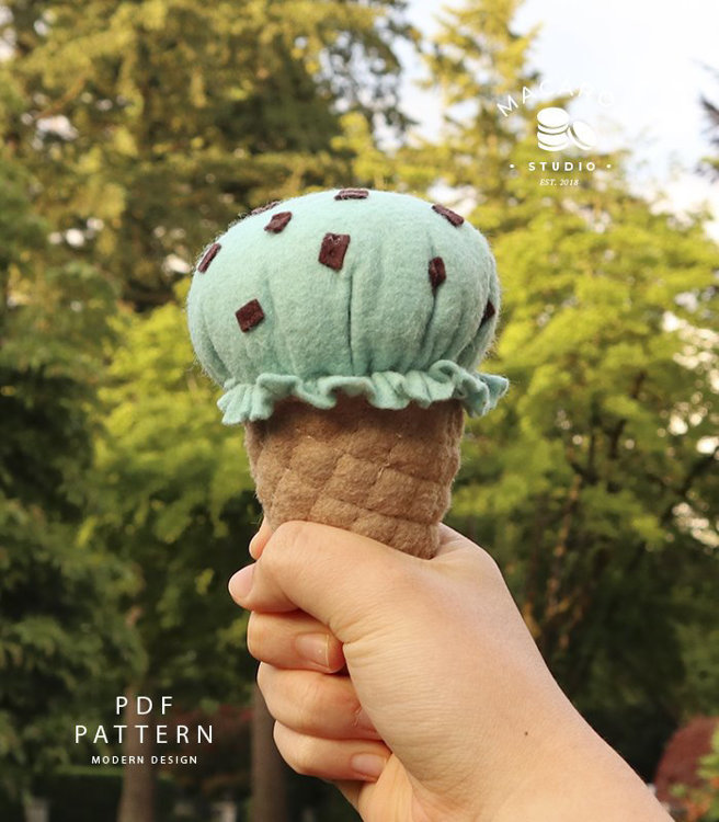 Picture of Felt Ice cream Toy PDF Pattern