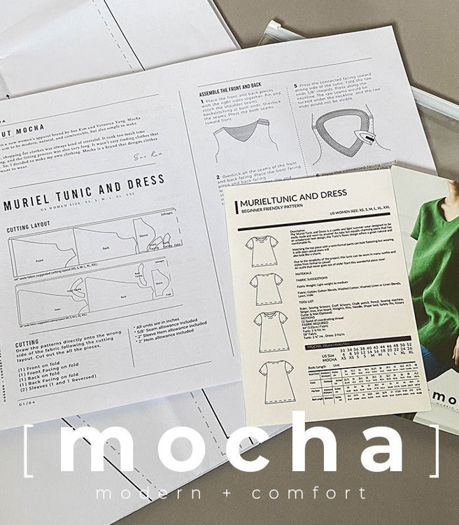 Picture of 10 MOCHA Puff Sleeve Blouse Paper Pattern (#3133_3098) - 25% Off!