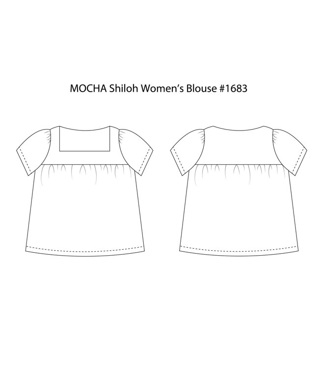 Picture of 10 MOCHA Shiloh Women's Blouse Paper Pattern (#3134_3099) - 25% Off!