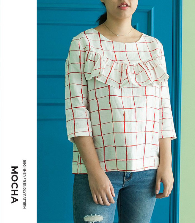 Picture of 10 MOCHA Cara Blouse  Paper Pattern (#3137_3102) - 25% Off!