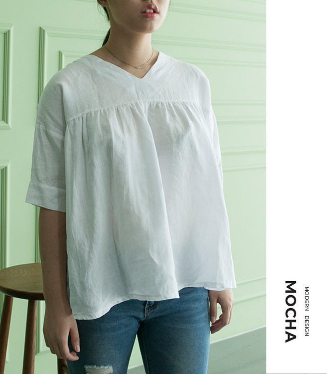 Picture of 10 MOCHA Georgina Blouse  Paper Pattern (#3140_3110) - 25% Off!